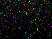 Dense Falling Multicolor Confetti Falling with Alpha stock footage