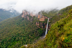 Dense fog at Blue Mountains National Park Royalty Free Stock Photo