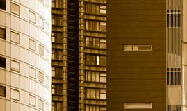 Dense High Rise Buildings Royalty Free Stock Images