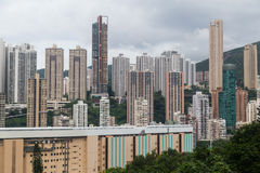 Dense high rise buildings of Hong  Kong Stock Photo