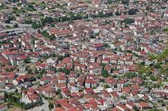Dense Kastraki town in Greece Royalty Free Stock Images
