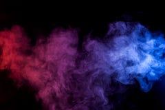 Thick colorful smoke stock photo