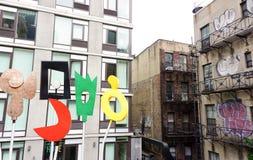 Dense new york city buildings Royalty Free Stock Image