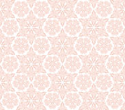 Dense pink ornament with swirls and leaves. Dense ornament with swirls and leaves in pink tones on a white background Royalty Free Stock Images