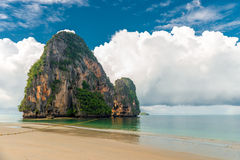 Dense rain clouds overhang the Andaman Sea in Thailand Royalty Free Stock Photography