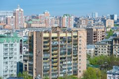 The dense residential development in the city Stock Images