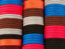 Dense row of coloured yarns Stock Image