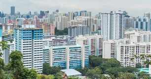 Dense Singapore skyline during the day stock photos