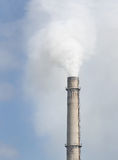 Dense smoke coming out from stack of thermal power Stock Photography