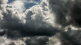 Dense storm clouds time lapse stock footage
