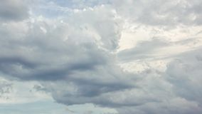 Dense storm clouds time lapse stock video footage