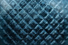 Dense thick window glass texture with rhombus pattern Stock Photography