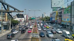 Dense Traffic in Bangkok Stock Photography