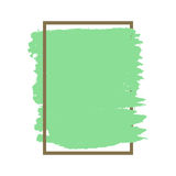 Dense vector green grunge texture brown frame isolated Royalty Free Stock Photography