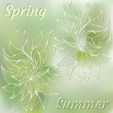 Dense vegetation card Royalty Free Stock Images