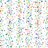 Dense watercolor confetti on white background. Stock Images