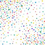Dense watercolor confetti on white background. Rainbow colored watercolor confetti scattered pattern. Colorful hand painted illustration Stock Photo