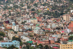 Densely packed houses on the hills of Antananarivo Stock Photography