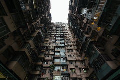 Densely populated apartments. Apartments in Quarry bay of Hong Kong Stock Photos