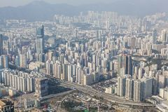 Densely populated area in Hong Kong Royalty Free Stock Images