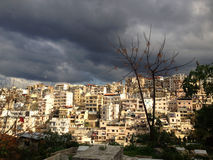 Densely populated city of Tripoli, Lebanon. Stock Image