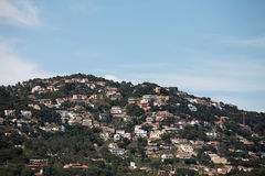 Densely populated mountain Royalty Free Stock Photography