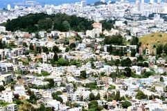 Densely Populated San Francisc Royalty Free Stock Photo