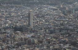 Densità architettonica di Barcellona Fotografia Stock Libera da Diritti