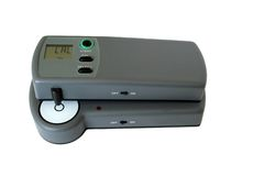 Densitometer in calibration mode Stock Image