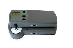 Densitometer in der Kalibrierungbetriebsart Stockbild