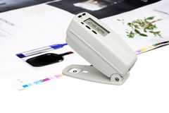 Free Densitometer On Offset Printed Sheet Royalty Free Stock Images - 11305699