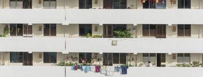 Denso esteriore del complesso condominiale di HDB a Singapore Immagine Stock Libera da Diritti