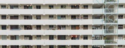Denso esteriore del complesso condominiale di HDB a Singapore Immagini Stock