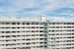 Denso esteriore del complesso condominiale di HDB a Singapore Immagini Stock Libere da Diritti