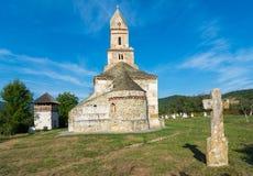Densus基督教会,胡内多阿拉,罗马尼亚 图库摄影