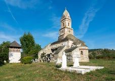 Densus基督教会,胡内多阿拉,罗马尼亚 免版税库存照片