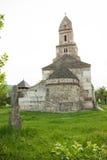 Densus - очень старая каменная церковь в Трансильвании, Румынии Стоковое Изображение