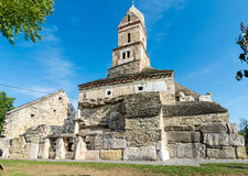Densus基督教会,胡内多阿拉,罗马尼亚 库存图片