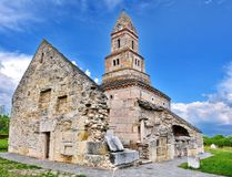 Densus Church Romania. Densus Church in Romania there was once a Dacian temple dedicated to Zamolxis. Is considered the oldest church in Romania and South East Stock Photography