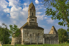Densus Monastary , 7th century. Densus is one of the oldest church in Romania, built in VII century, rebuild in XVIII century with the stones from roman city Royalty Free Stock Image
