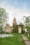 Densus - sehr alte Steinkirche in Siebenbürgen, Rumänien Stockfotos