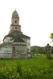 Densus - sehr alte Steinkirche in Siebenbürgen, Rumänien Stockbilder