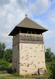 Densus Stone Church - Bell Tower. The Bell Tower of the Saint Nicolae's Orthodox Church from Densus, Hunedoara. The church is one of the oldest churches still Royalty Free Stock Image