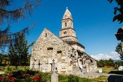 Densus Stone Church. Old stone church from Densus, Hunedoara county Stock Photos