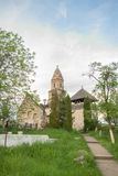 Densus - Very old stone church in Transylvania, Romania. Stock Photos