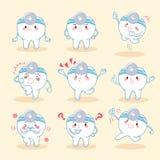 Dent avec le concept dentaire Images libres de droits