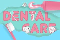 Dent avec soins dentaires Photo libre de droits