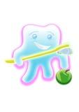 Dent avec une brosse à dents illustration stock