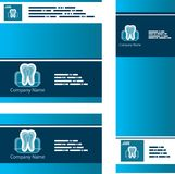 Dent Business set. Set of backgrounds templates Dent Business set Royalty Free Stock Photos