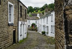 Dent, Cumbria. The picturesque village of Dent in the Yorkshire Dales has whitewashed cottages and cobbled streets Royalty Free Stock Photos